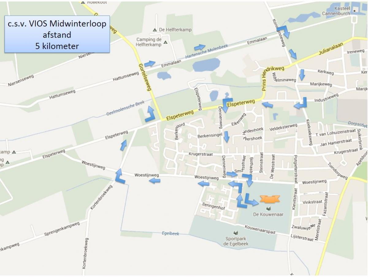 Midwinterloop - route 5km